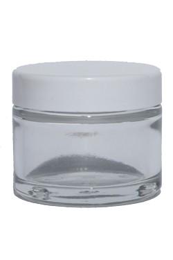 Salbentöpfchen Glas transparent 50ml