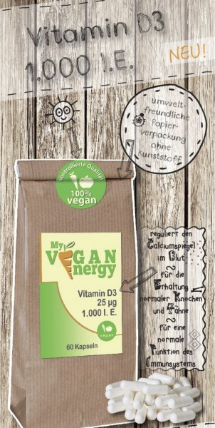 """My-vegan-Energy"" Vitamin D3 1.000iE"