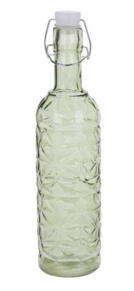 Deko Glasflasche oliv mit Bottlelight