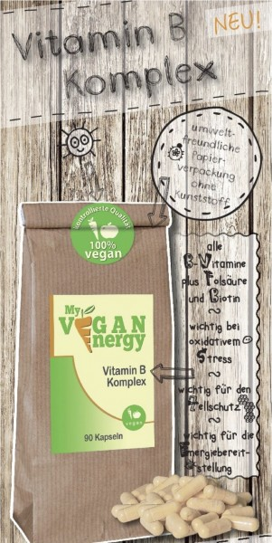 """My-vegan-Energy"" Vitamin B Komplex 90 Kps."