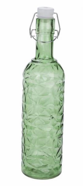 Deko Glasflasche grün mit Bottlelight